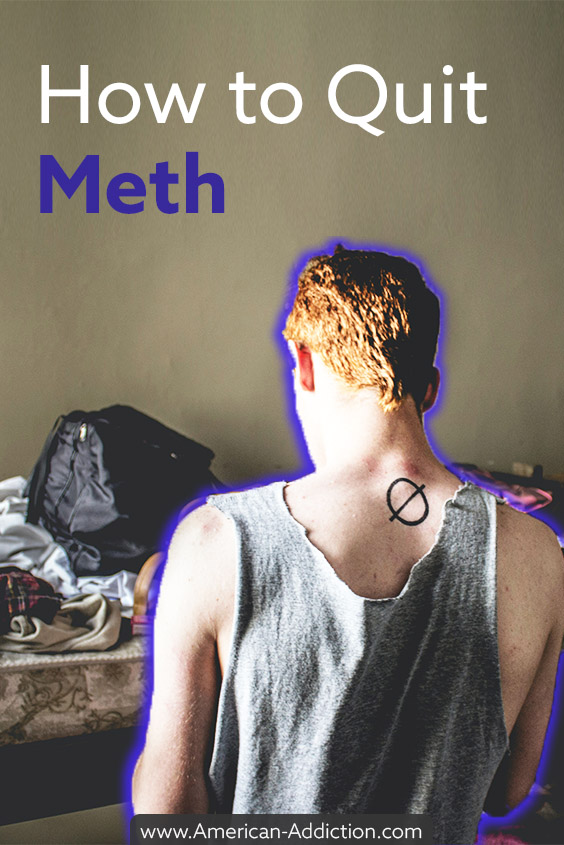 man learning how to quit meth