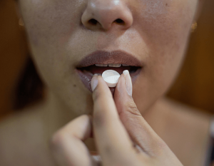 Girl struggling with painkiller addiction